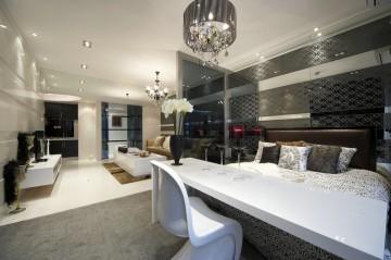 阅城国际三居室现代装修设计图4