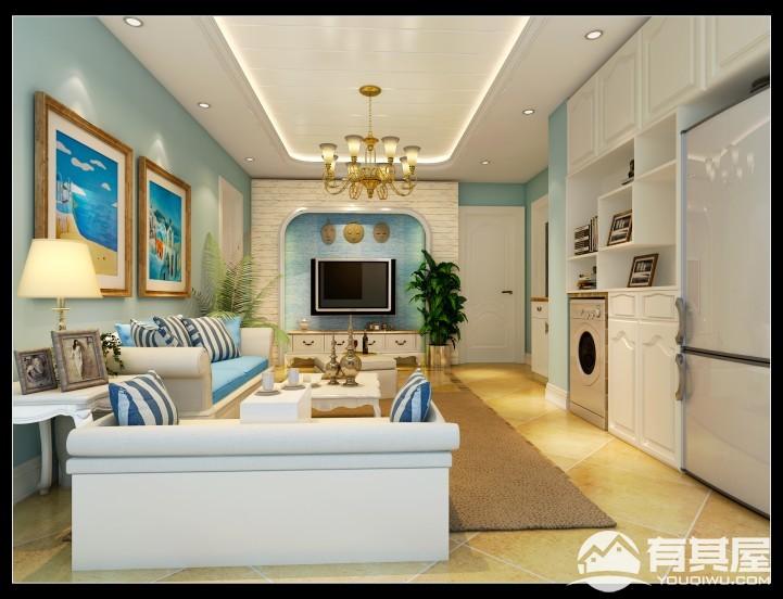 牡丹园两居室田园风格设计效果图欣赏