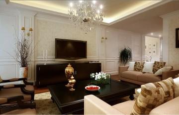 欧式风格客厅装修效果图1