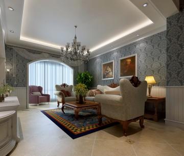 欧式风格客厅装修效果图3