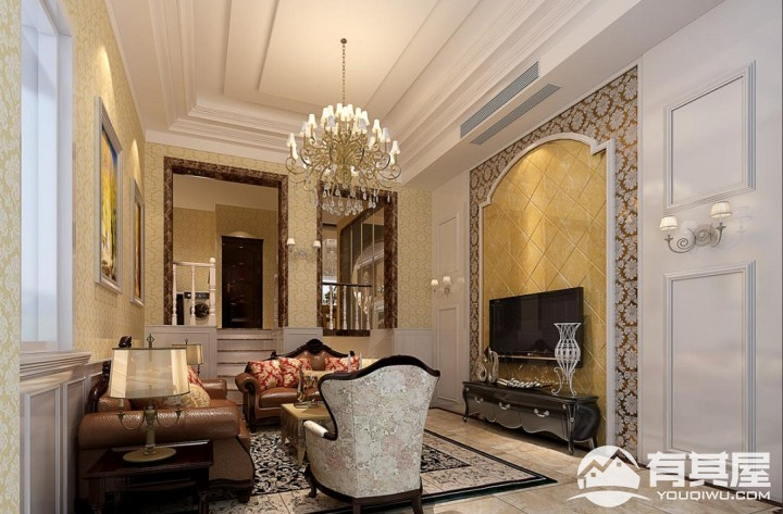 半山香槟园欧式豪华别墅装修效果图