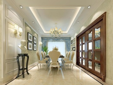 辉煌家园简欧风格三居室装修效果图1
