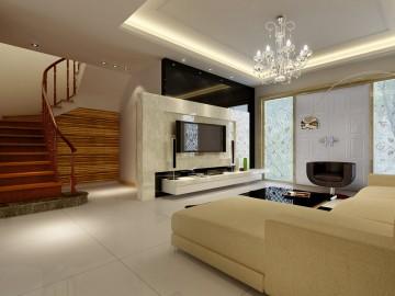 现代风格别墅装修设计效果图2