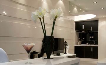 阅城国际三居室现代装修设计图2