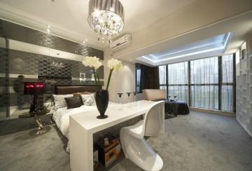 阅城国际三居室现代装修设计图3