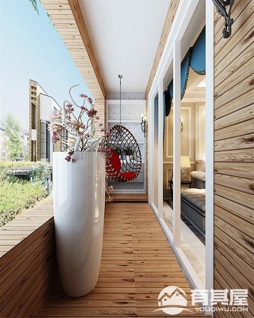 闽江世纪城三室两厅欧式风格设计效果图欣赏