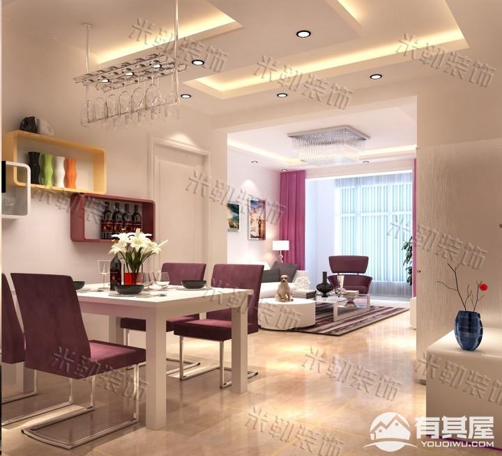 锦绣官邸两居室小户型现代简约风格设计效果图欣赏