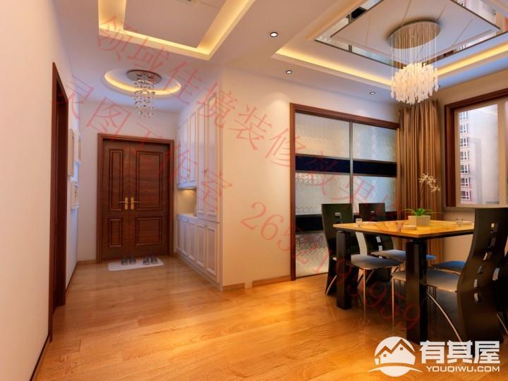 招商诺丁山两居室小户型现代简约风格设计图
