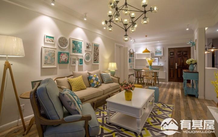 金都雅苑四室两厅美式风格设计效果图欣赏