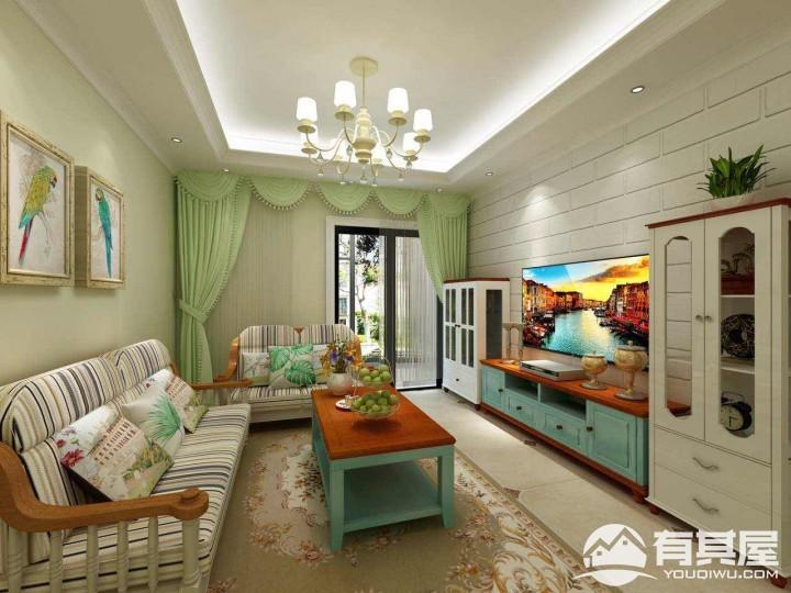 富士嘉园两居室小户型美式田园装修设计效果图欣赏