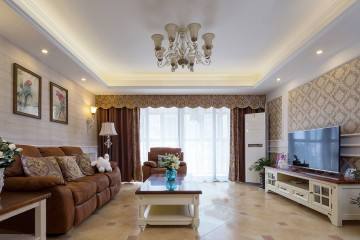 金业缇香山135平三室两厅现代装修设计效果图案例欣赏