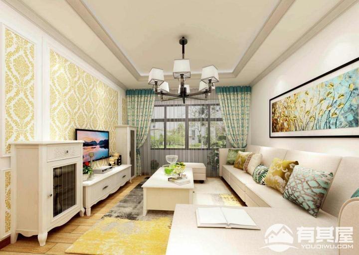 龙岗中心城三室两厅简欧装修设计效果图欣赏