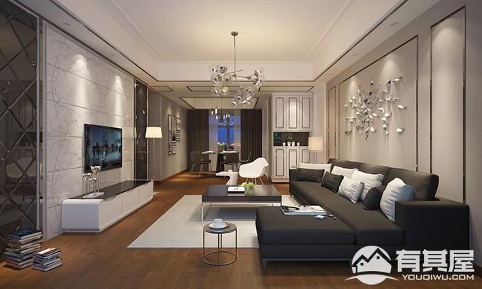 枫丹白鹭四室两厅现代风格设计效果图欣赏