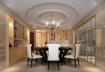 三迪香颂枫丹现代简约复式楼装修效果图2