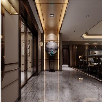 融侨观邸三居室新中式装修风格设计1