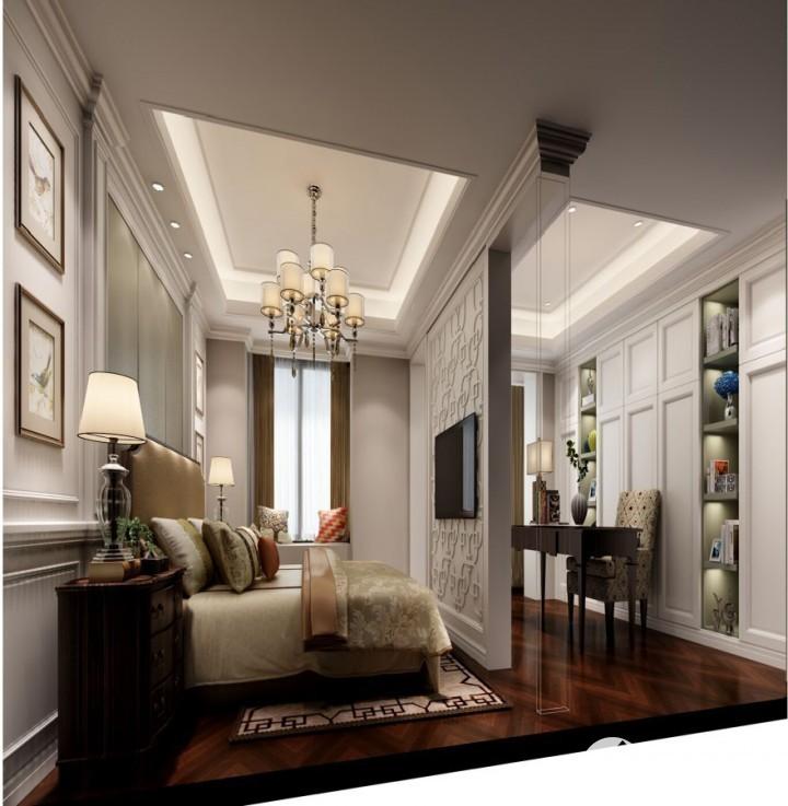 融侨观邸三居室新中式装修风格设计