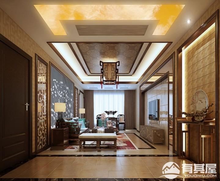 万业锦江城传统中式装修效果图