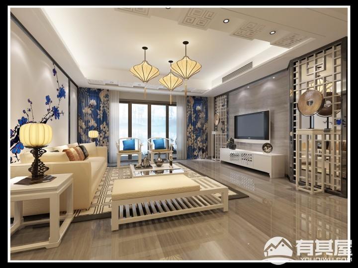 万宝城新中式风格四房装修效果图