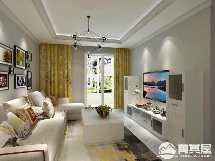 尚水天成三室两厅家装现代板式风格设计效果图