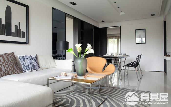 皇庭丹郡三室两厅简约风格设计效果图欣赏