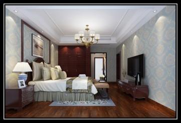 保利西江林语美式古典风复式楼装修图2