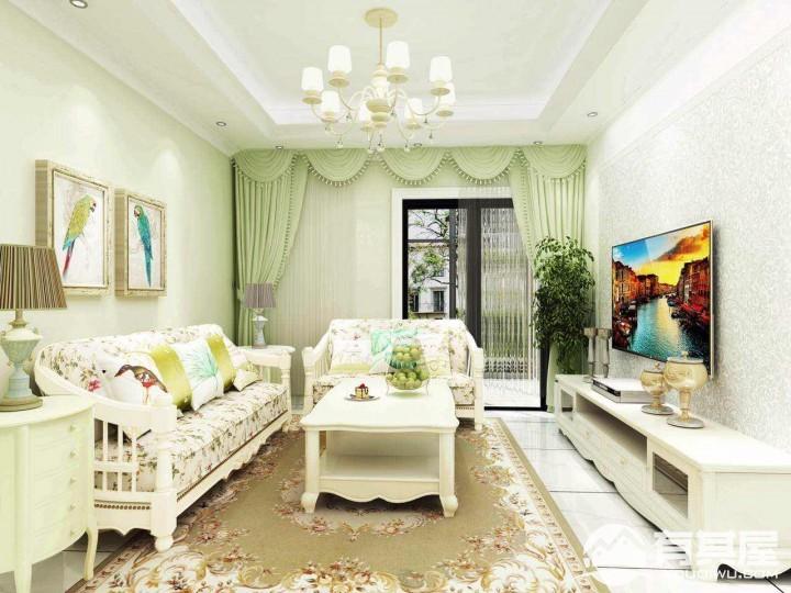 东门新干线两居室小户型韩式田园风格设计效果图欣赏
