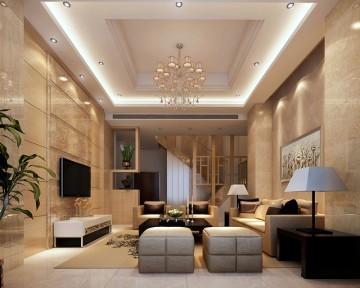 三迪香颂枫丹现代简约复式楼装修效果图1