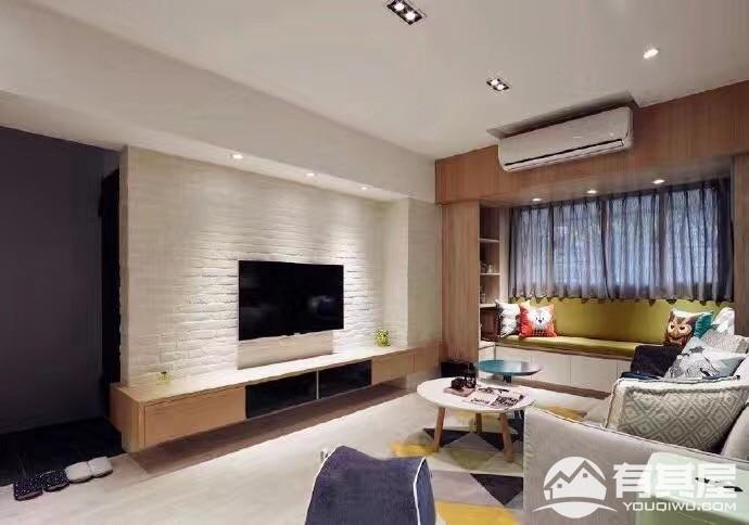 龙城一号90平三室两厅北欧风格设计效果图