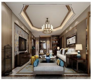 融侨观邸三居室新中式装修风格设计2