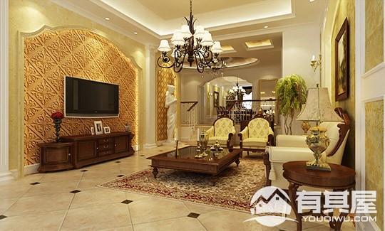 融侨悦府花园三室两厅欧式风格设计效果图欣赏