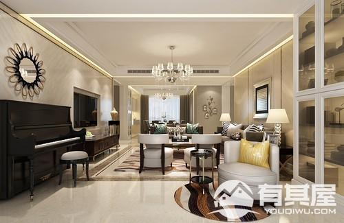 滨海·橙里四室两厅简欧风格设计效果图欣赏