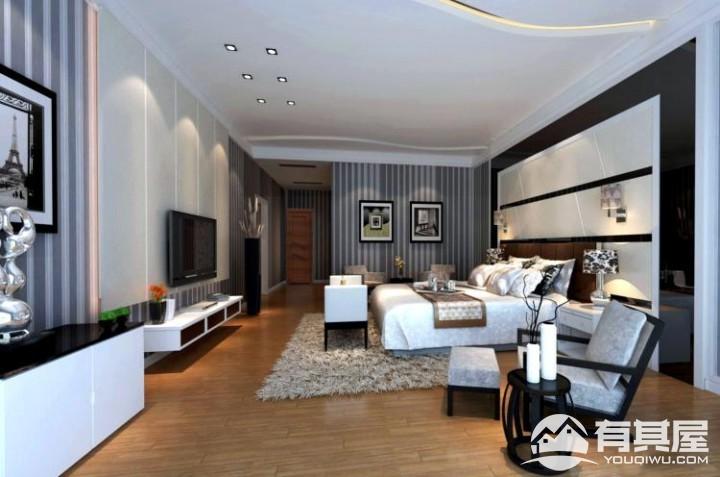 东湖九四居室家装现代简约风格设计效果图欣赏
