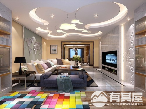 四居室现代简约风格设计效果图欣赏