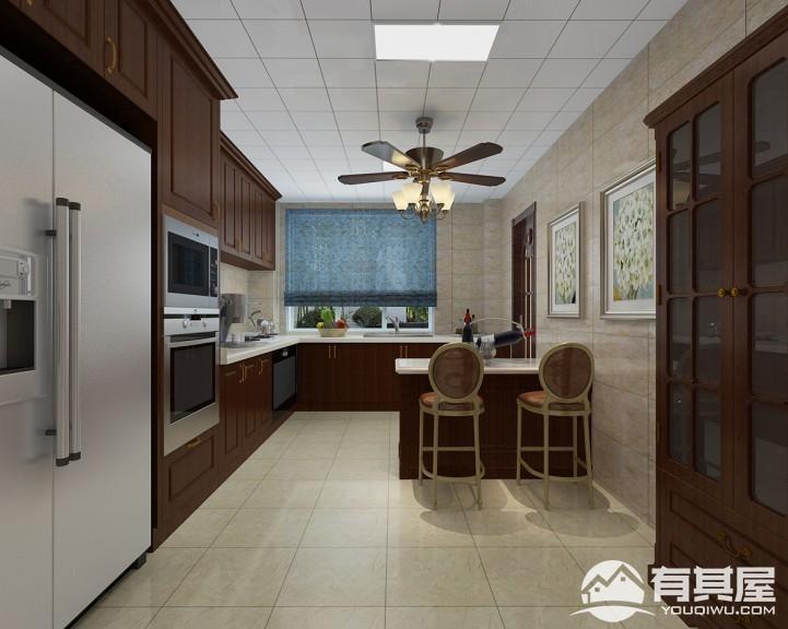 保利西江林语美式古典风复式楼装修图