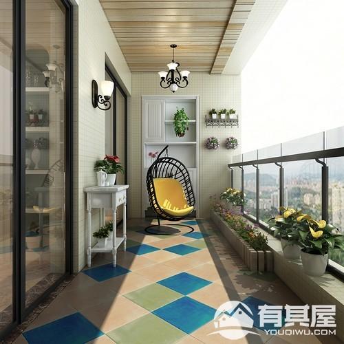 正祥林语墅三室两厅美式风格设计效果图欣赏
