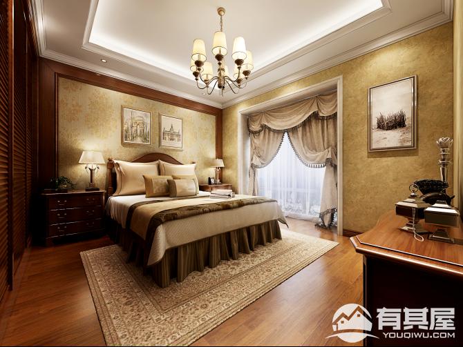 江南水都美域四室两厅美式风格设计效果图欣赏