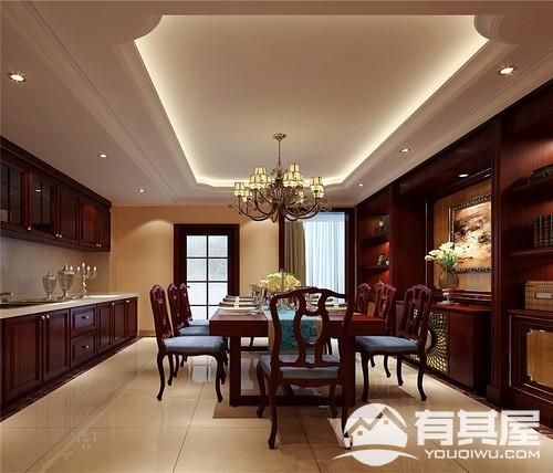 中庚香山天地四室两厅美式风格装修效果图欣赏