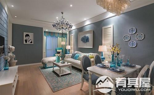 新榕金城湾三室两厅欧式风格设计效果图欣赏