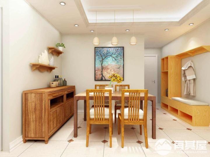 南航明珠花园三居室家装现代实木风格设计效果图