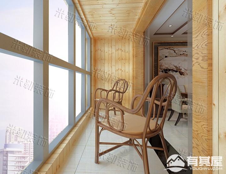 凤凰城三室两厅家装中式装修设计效果图欣赏