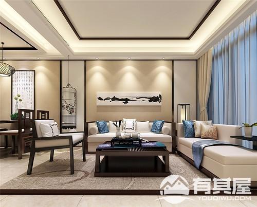 三木公园里三室两厅中式风格设计效果图欣赏