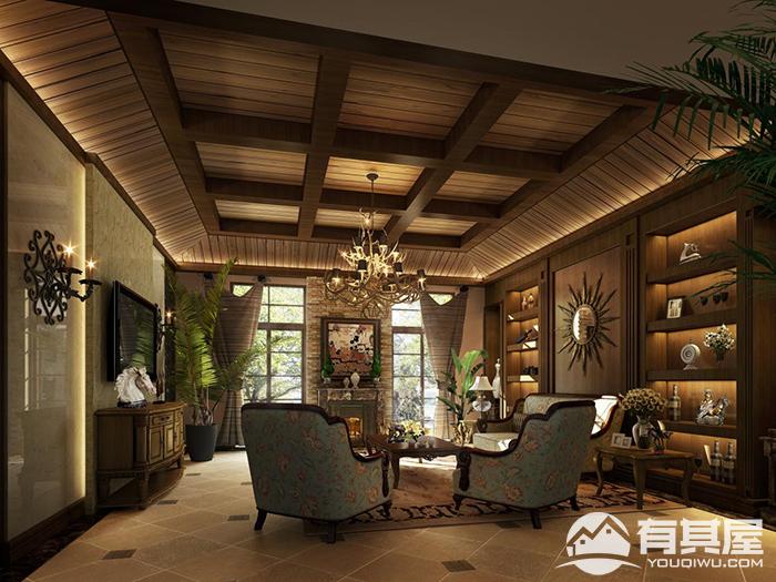 阳光理想城别墅美式风格设计效果图欣赏