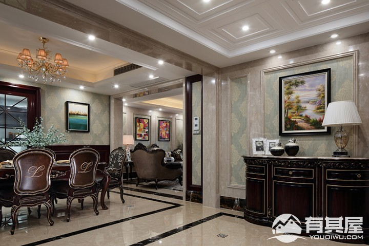 大悦花园美式风格四房装修设计图片