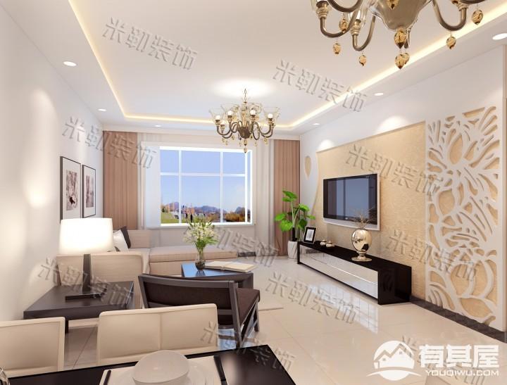 港升美丽园三居室家装现代风格设计效果图欣赏
