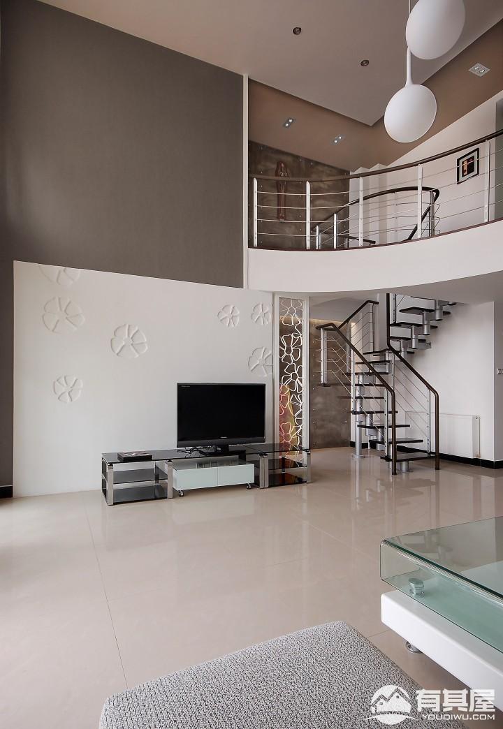 星语名园复式楼现代简约风格装修效果图