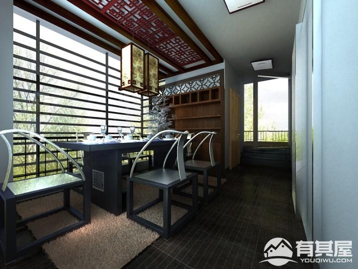 德威朗琴湾四室两厅中式风格设计效果图欣赏