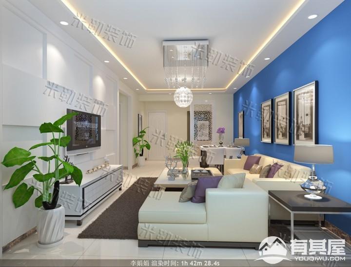 港升美丽园4号楼三室两厅家装现代简约装修设计效果图欣赏
