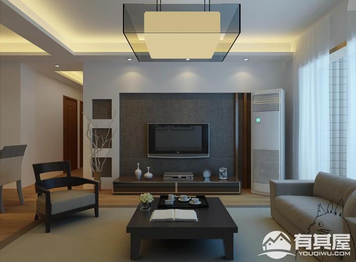中萃花城湾三室两厅现代简约装修设计效果图