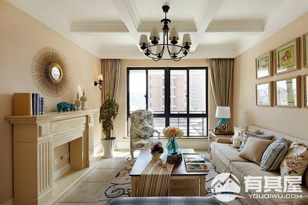 海赋江城天韵两居室小户型美式风格设计效果图欣赏