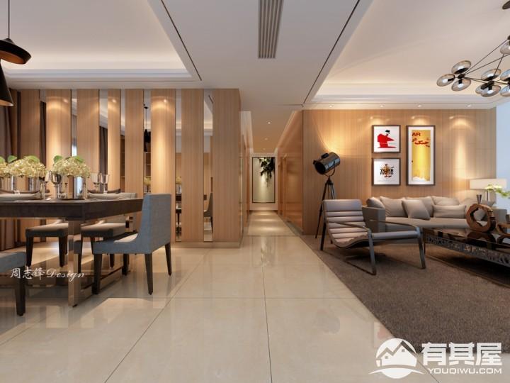 君悦山三居室家装现代风格设计效果图欣赏